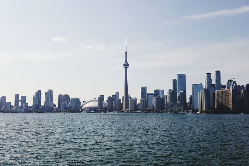 toronto skyline Sunny Day Toronto Canada Toronto Landscape TorontoLife City Cityscape Urban Skyline Modern Skyscraper Panoramic Downtown District Waterfront Water Business Finance And Industry Ferry Observation Point