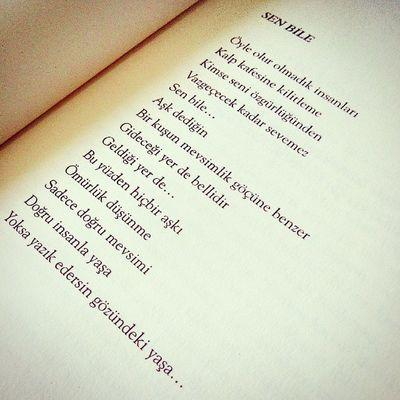 SEN BİLE Yazık etme gözündeki yaşa.. SerkanÖzel Canınsağolsun Aşk Soz Kitap