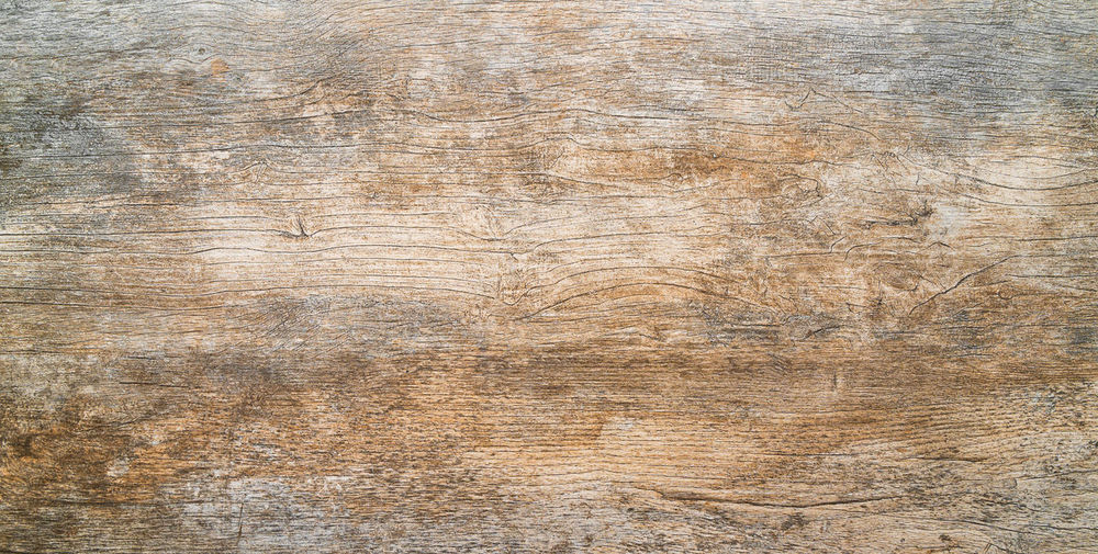 High angle view of old wooden plank