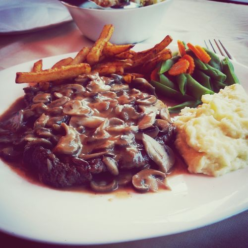 Beef Mushroom Steak Capricorn Goa Restaurant