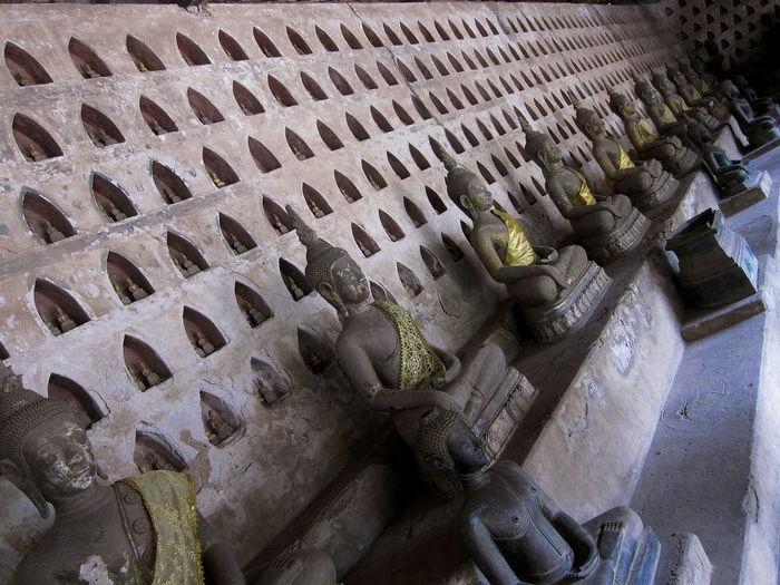 Bouddha  Bouddhist Statue Bouddhist Statues Bouddhist Temple Laos Statue Of The Bouddha Statues Temple Vientiane Vientiane, Laos Wat Si Saket