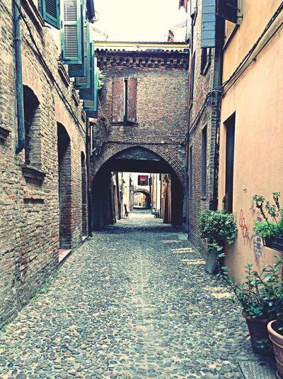 Ferrara Italy Unesco Viadellevolte Photography Cityscapes Emiliaromagna Ferrara Wall Italian Place