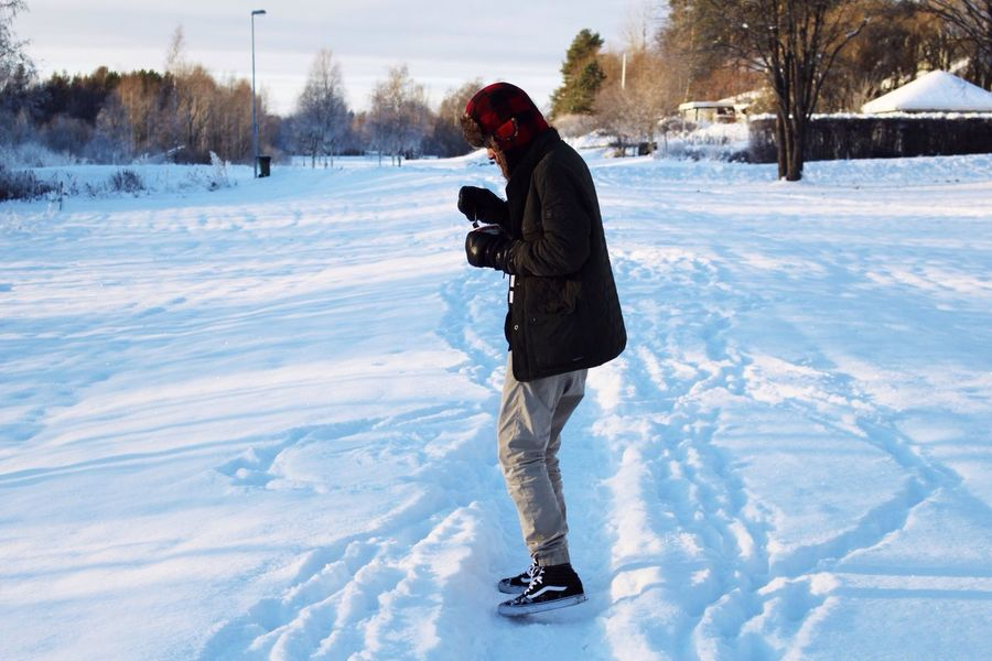 Winter Snow Cold Temperature Warm Clothing Full Length Real People One Person People Day Outdoors Nature TheWeekOnEyeEM