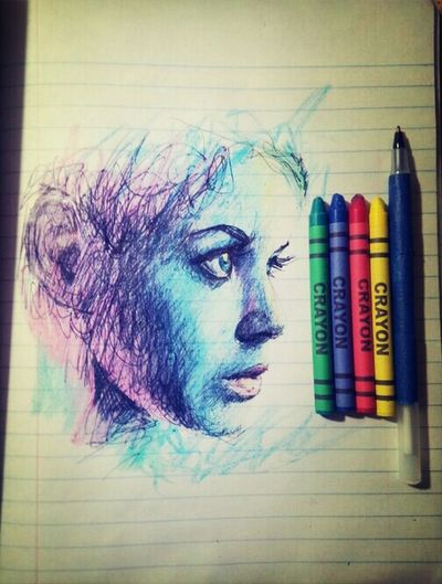 You don't need fancy tools for art.♥ Art Drawing My Passion Crayons
