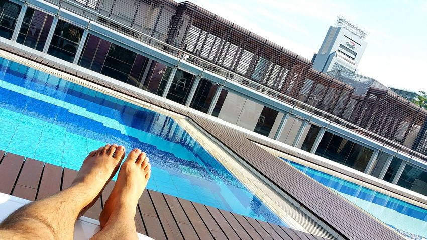Finally, this is holiday... rooftop pool all to myself. Pure Bliss Holiday Relaxing