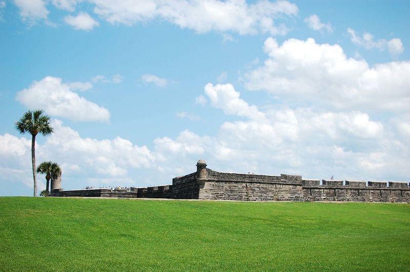Architecture Cloud - Sky Day Fort Landscape Outdoors Saint Augustine Tourism Travel Destinations Vacation