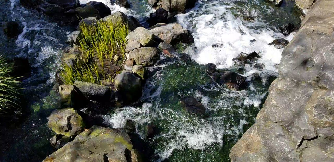 Rocks Rocks And Water Water Water Garden  Splash Splashing Splashing Droplet Water Backgrounds Full Frame Close-up Moss Cold Cold Temperature