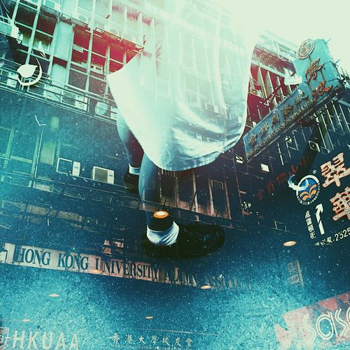Double Exposure Hong Kong Adult City Day Full Length Human Leg Lifestyles Low Section Men One Person Outdoors People Real People Shoe Streetphotography Text Women
