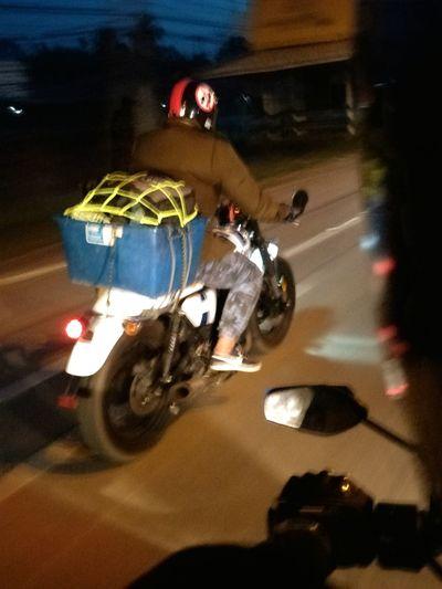 Motorcycle Mode Of Transport Transportation Speed Riding Land Vehicle Night