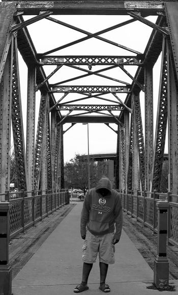 Bridge_walking Bridge - Man Made Structure Built Structure Connection Architecture One Person Warm Clothing Adult Full Length People Outdoors Day Men Young Women Adults Only Young Adult Engineering Canon550D Full Frame Denver,CO Canont2irebel Vision303photography Illuminated 303 Colorado Photography Architecture