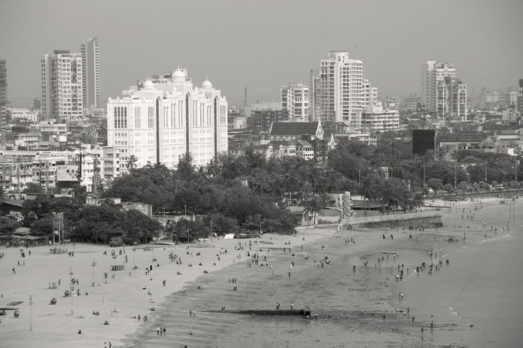 Beach Photography Mumbai Architecture Black And White Building Building Exterior Built Structure City Cityscape Day High Angle View Monochrome Nature No People Office Building Exterior Outdoors Panoramic Photography Plant Residential District Sky Skyscraper Tall - High Tree Water Waterfront