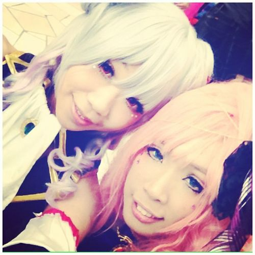 Tired but happy Sakana and bunny ^^ ~ Minicf Selca Yowane Haku megurine luka cosplay