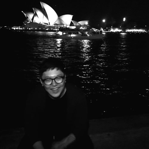 Portrait Night Looking At Camera Eyeglasses  Australia Sydney Opera House Operahouse One PersonoOutdoorsrPeoplele