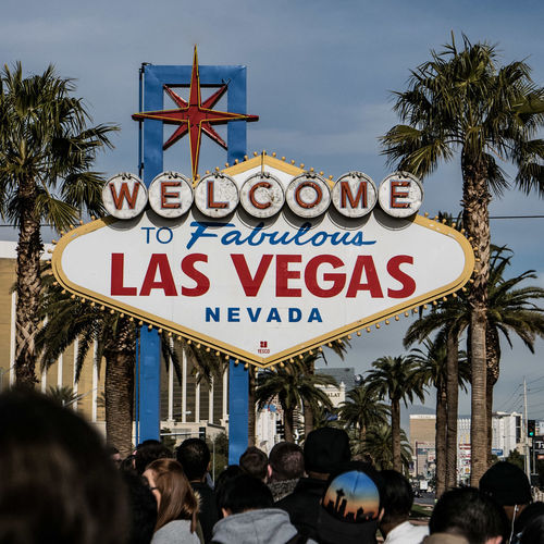 welcome to Vegas baby Ricardo Barbosa Vegas  Nevada Sky Travel Crossfit CFPRS Tree City Palm Tree Text Sky Architecture Road Sign Information Signboard Warning Stay Out