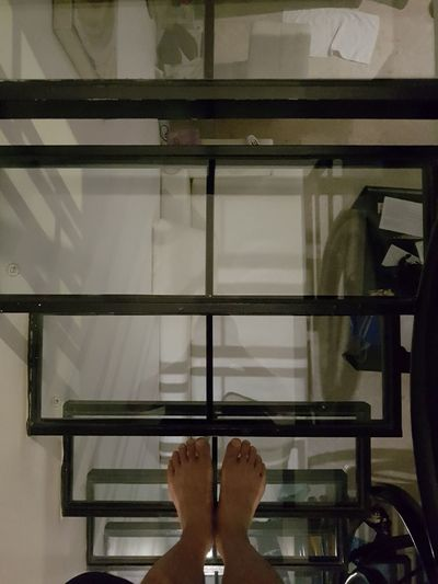 glass stairs EyeEm Gallery Stairs Glass Low Section Close-up Human Foot