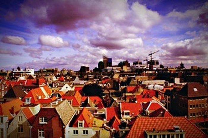 Netherlands The Haque Building Exterior Architecture Cloud - Sky Built Structure Roof Sky Crowded Cityscape House Town Outdoors Residential Building City Day Tiled Roof