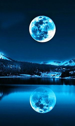 Space Planetary Moon Night Star - Space Astronomy Moon Full Moon Moon Surface Moonlight Planet - Space Lake Reflection Tranquil Scene Nature Scenics Frozen Blue Water No People Beauty In Nature
