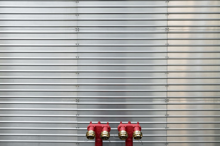 Fire Hydrants Against Shutter