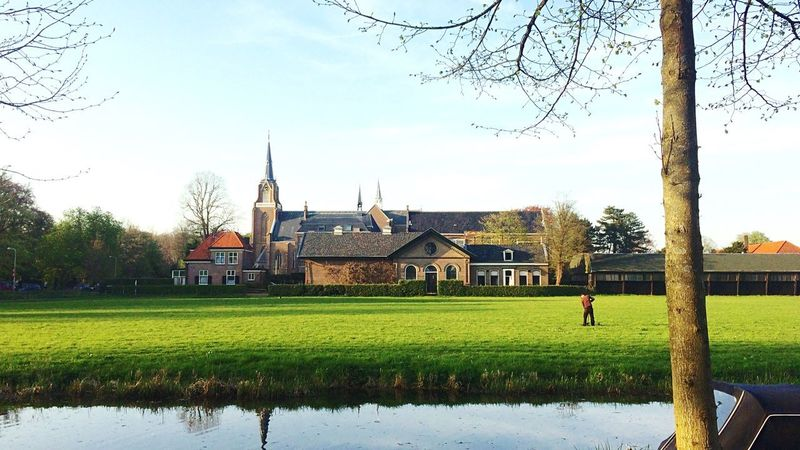 Netherlands Overveen Catolic Church Church Fieldscape Field Built Structure Architecture Building Exterior Plant Sky Tree Building