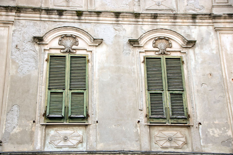 Architecture Built Structure Building Exterior Window Building No People Day History The Past Low Angle View Closed Old Arch Outdoors Entrance Travel Destinations Façade Door Architectural Feature Residential District Ornate La Spezia Italy Liguria