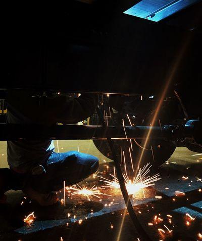 Fire Industrial Work Dangerous