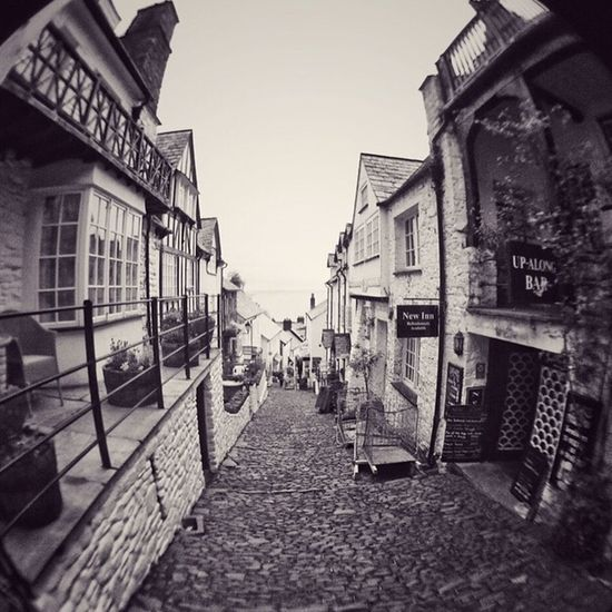 Clovelly, North Devon, England Clovelly  Olloclip Fisheye Snapseed