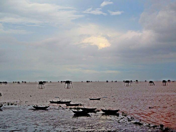 Sea Sky Vietnam Trip Beach Thaibinh 海岸線