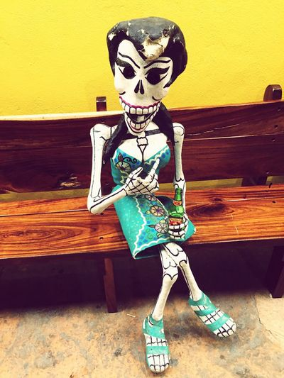 Starting A Trip Taking Photos One Sunny Day Cabo San Lucas Mexico Summertime Streetart Tequilla Souvenir Shopping Street Skeleton