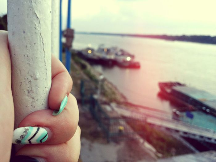The heart Jail Harbor Ocean River Sea Sky Seascape Skyscape Metal Calm Chill EyeEm Selects Sun Lake Photography Beauty Outdoor Friendship Landscape River Skin Nail Art Personal Perspective Manicure Shore Finger Fingernail Human Finger Nail Varnish Nail File