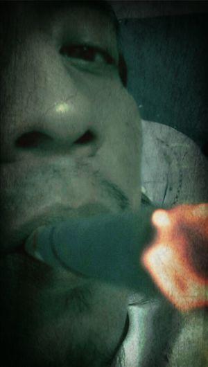 Hanging Out Smoking It's Me 420 Half Face Smoking Cheroot