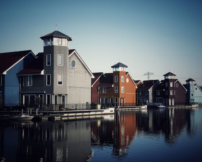 Reitdiephaven 2 Groningen Netherlands Amsterdam Water Harbour Port House Lifestyles Wanderlust Reitdiephaven Travel Wander Stilt House Horizon Over Water Myanmar Culture Sea Seascape Thatched Roof Calm Office Building Settlement Waterfront Residential Structure Shore My Best Photo