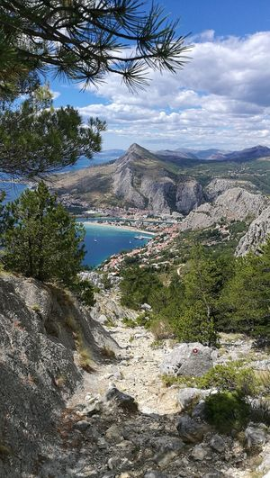 Mountain Scenics Nature Sky Water Cloud - Sky Outdoors Day Beauty In Nature Omis Croatia Omis Adriatic Sea No People Landscape Lost In The Landscape