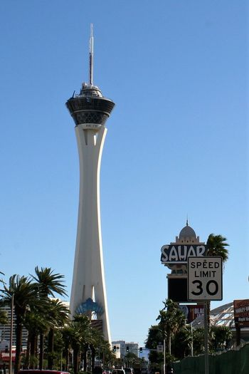Stratosphere Tower and Sahara Hotel in Las Vegas, 2010 2010 Architecture Las Vegas Blvd Las Vegas Boulevard Las Vegas Documentary Photography Las Vegas NV Las Vegas ♥ Sahara Hotel And Casino Speed Limit 30 Stratosphere Tower Architecture Built Structure Clear Sky Communication Day Las Vegas Impressions Las Vegas Nevada Low Angle View No People Outdoors Palm Tree Sky Stratosphere Hotel Text Tree