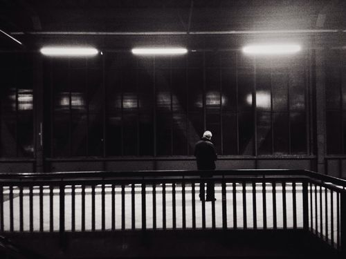 Solitude Anonymous Metro Berlin Alone In The Dark Darkness Waiting White Hairs Old Man Black Sepia Street Photography Berliners Observing Observed City At Night Metropolis