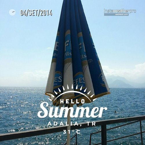 Foto scattata con InstaWeather Free App! @instaweatherpro Instaweather Instaweatherpro Weather Wx Android Adalia Turchia Day Summer Clouds Evening Hot Tr