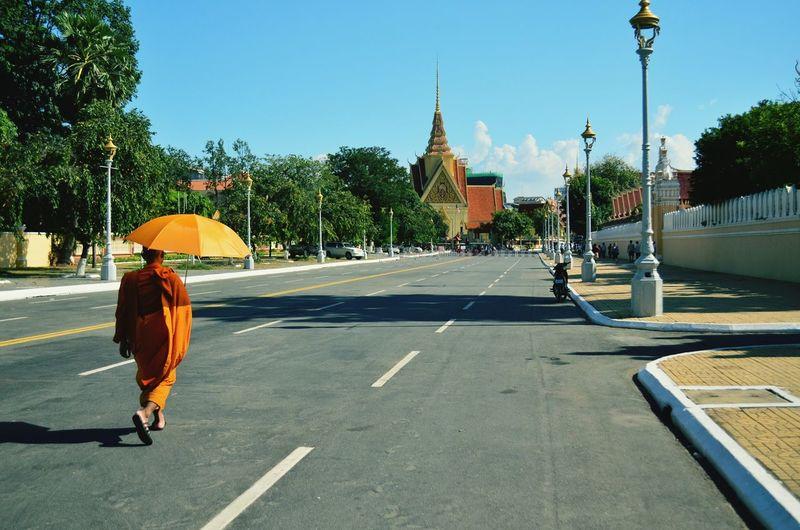 The streets of Phnom Penh Phnom Penh Cambodia Monk  Feel The Journey