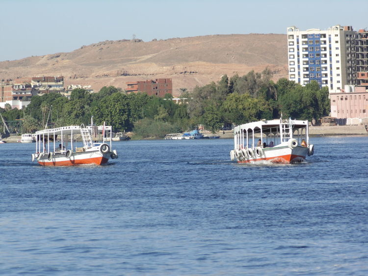 Aswan Blue Faloka Nile River The Nile River