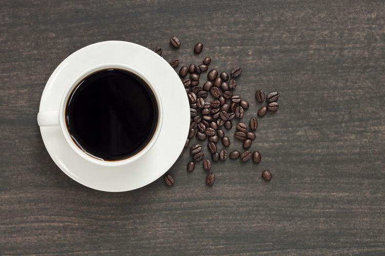 Black coffee in