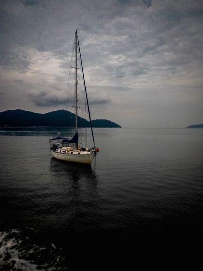 First Eyeem Photo Boat Ocean Fishing Blue Sky Free Sea And Sky Pangkor