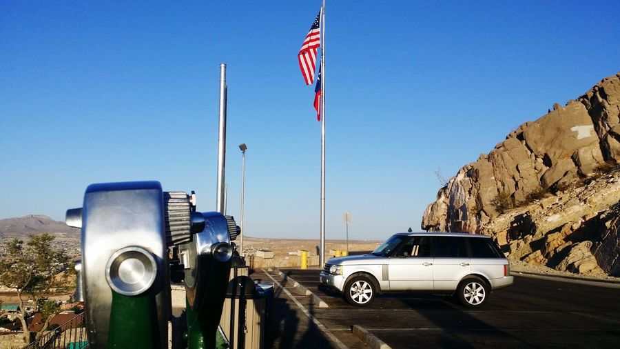Range Rover ElPasoTX Mexico City United States Oldglory Franklin Mountains Sunlight And Shadows