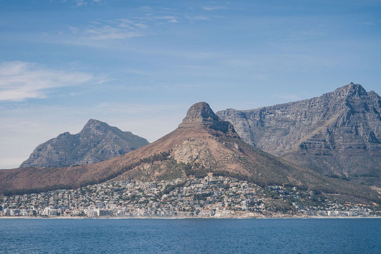 Cape town view from the sea