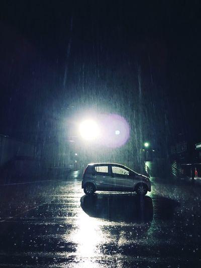 Hard Rain Night Light Hipstamatic