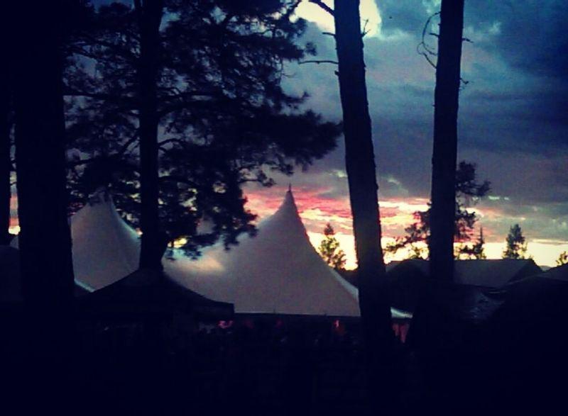 Festival sunsets in the summertime