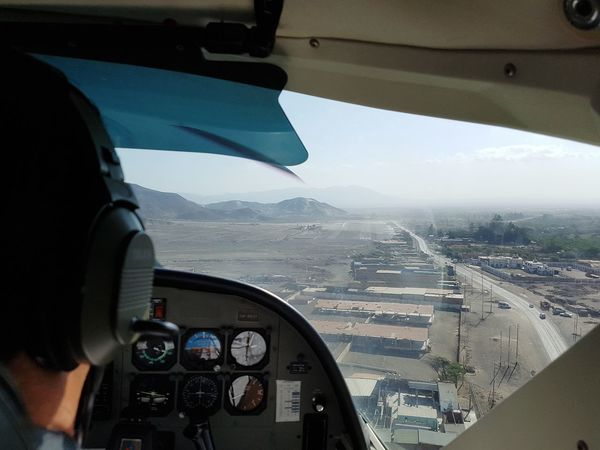 Nasca Lines Nasca Cockpit City Cityscape Airplane Flying Sea Pilot Air Vehicle Water Aerial View Speedometer Aerobatics