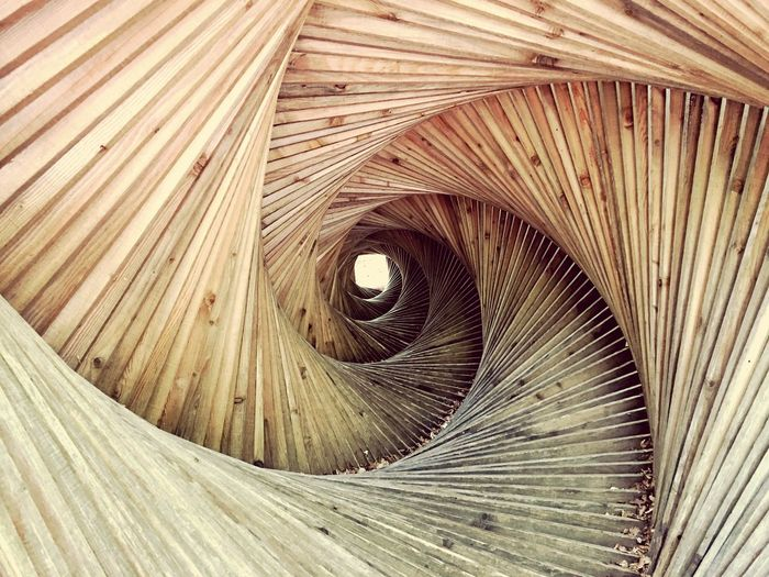Spiral Full Frame No People Backgrounds Day The Architect - 2017 EyeEm Awards Architecture Wood - Material The Graphic City