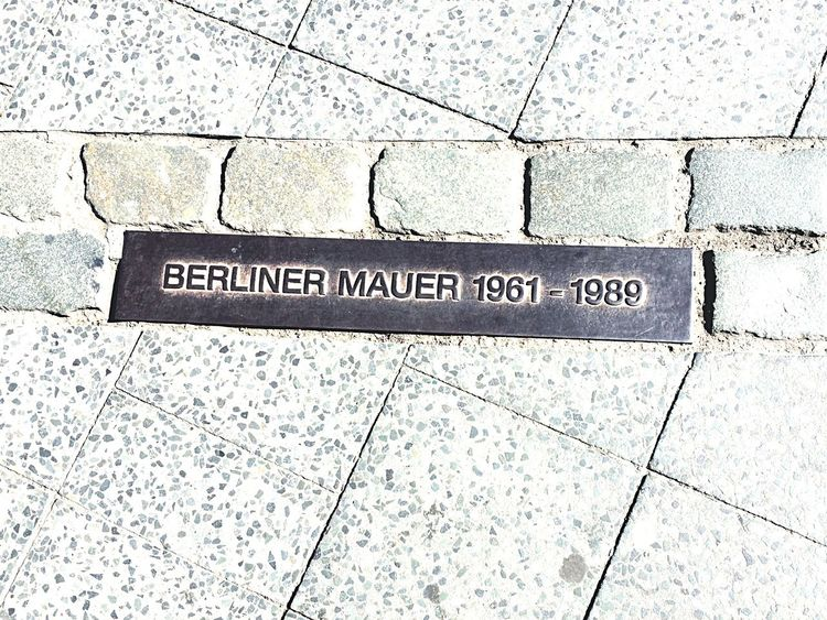Where The Wall Used To Be Berlin Mitte Berlin Wall Berlin Mauer 1961 1989 Captivity Vs Freedom Separation Separation Wall Isolation Comunity DDR Comunism Capitalism West East Sides Parted Split Telling Stories Differently