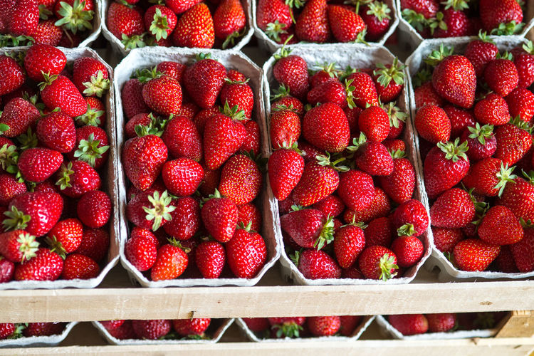 Close-up of strawberries for sale