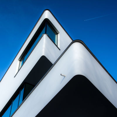 Pointed Elegance Architectural Detail Architectural Feature Architecture Building Exterior Built Structure City Cityscape Clear Sky Corner Day Façade Low Angle View No People Outdoors Perspective Sky Sunlight Urban Geometry Urbanphotography Fine Art Photography Minimalz