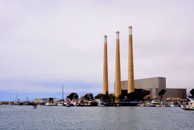 Built Structure Architecture Water Waterfront Industry Tall Group Of Objects Sky Tall - High Outdoors Day Sea Tranquil Scene Monument Tranquility Harbor Morro Bay, California Morro Bay Nautical Vessel Ocean Fresh On Eyeem