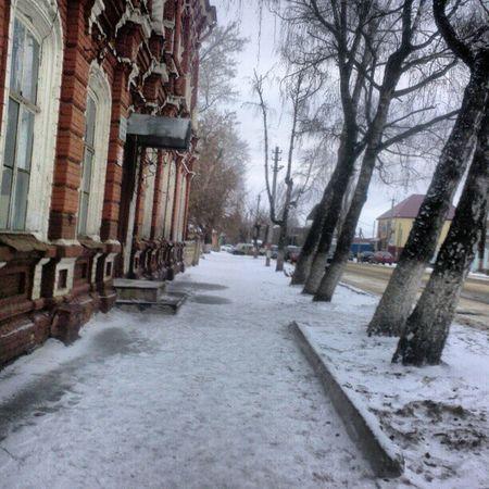 Street улица город тротуар зима снег snow